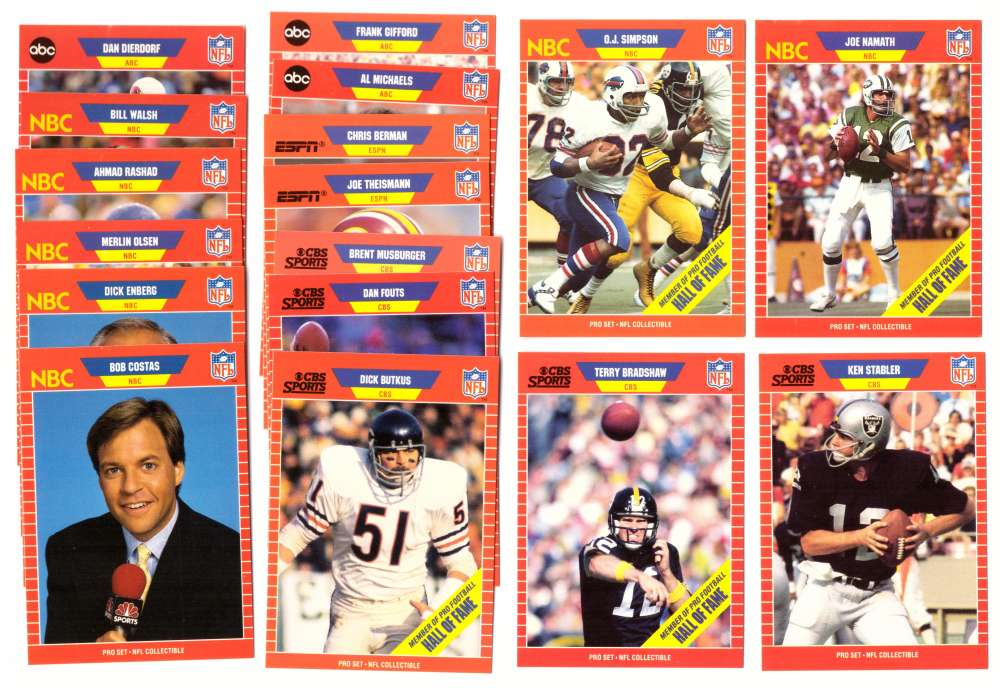 1989 Pro Set Footall Announcers set