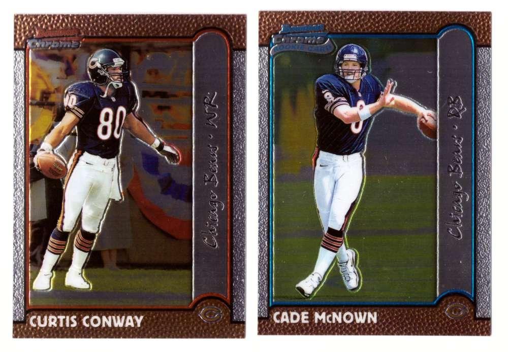 1999 Bowman Chrome Football Team Set - CHICAGO BEARS