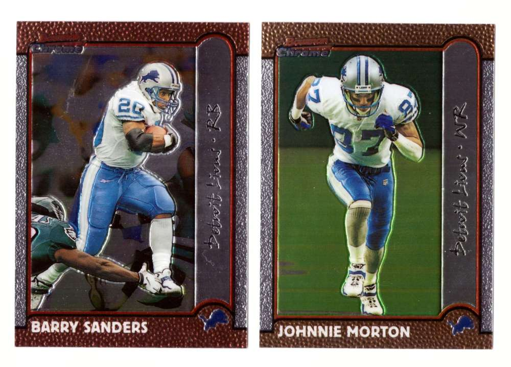 1999 Bowman Chrome Football Team Set - DETROIT LIONS