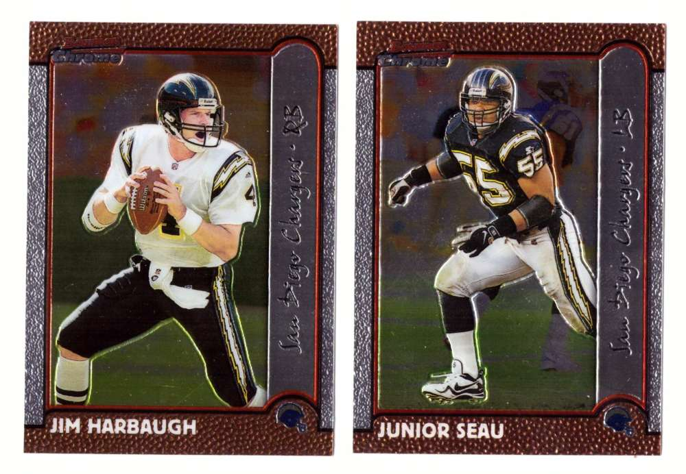 1999 Bowman Chrome Football Team Set - SAN DIEGO CHARGERS