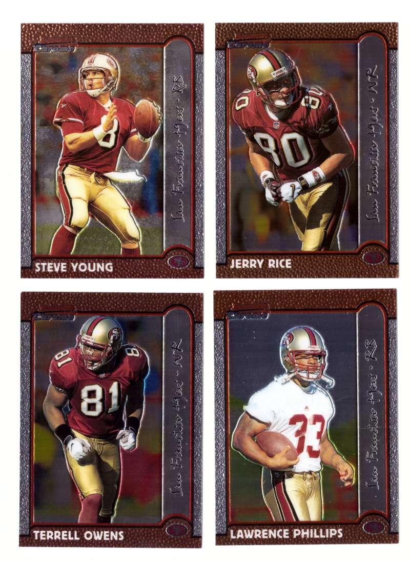 1999 Bowman Chrome Football Team Set - SAN FRANCISCO 49ERS
