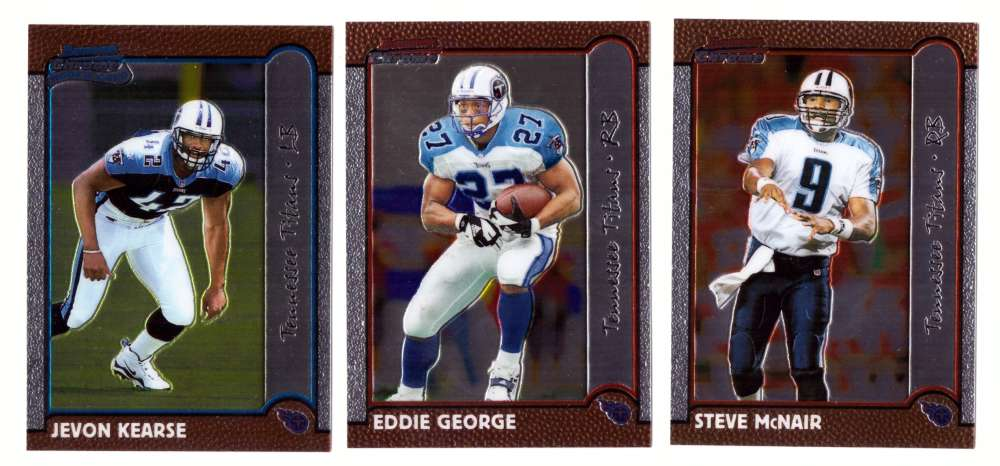 1999 Bowman Chrome Football Team Set - TENNESSEE TITANS