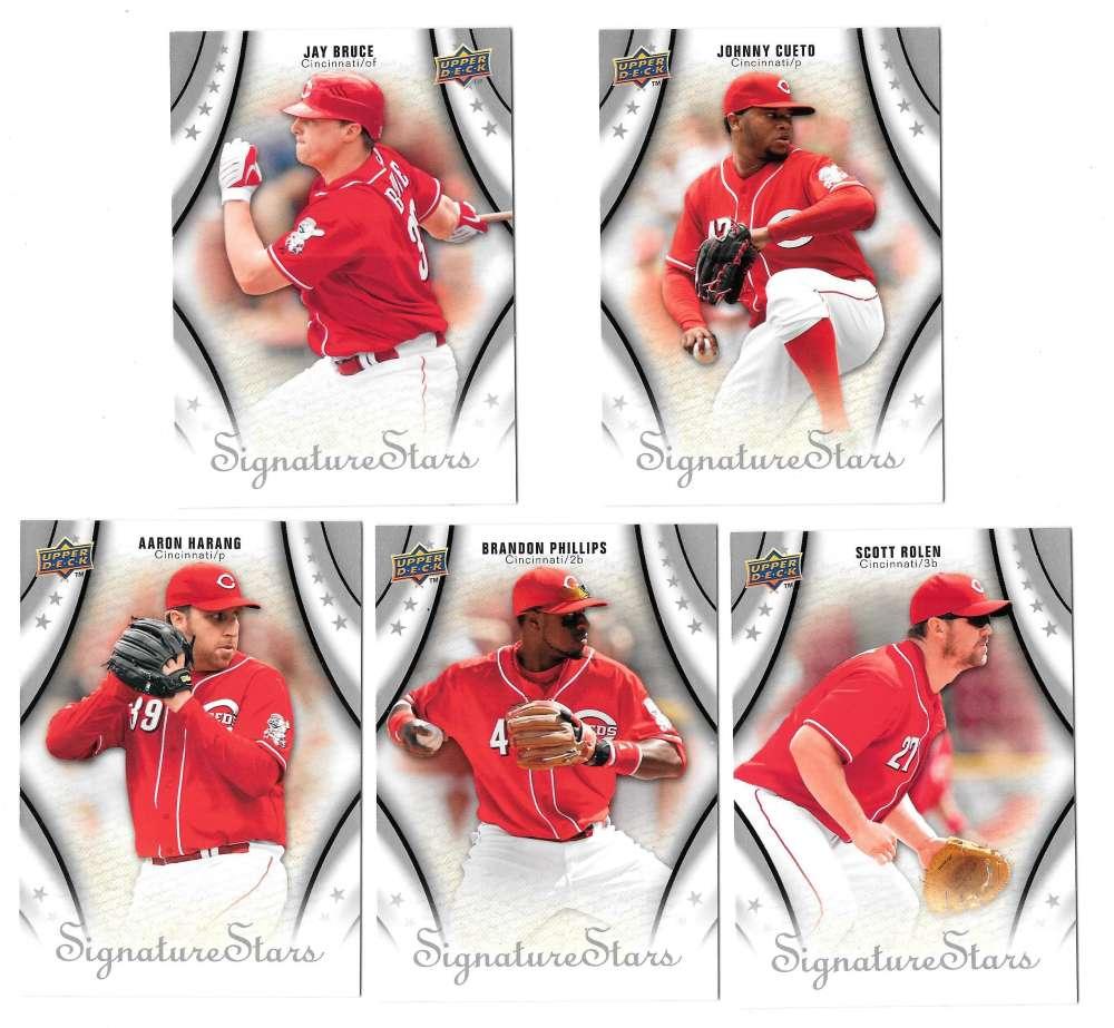 2009 Upper Deck Signature Stars - CINCINNATI REDS Team Set