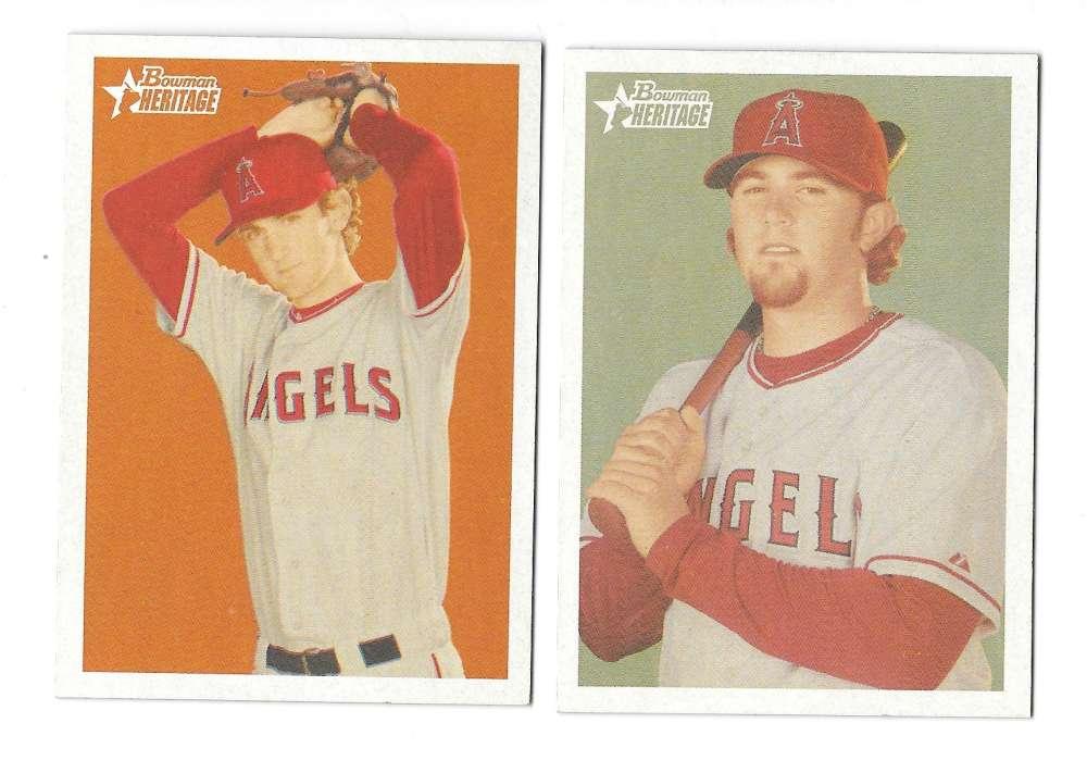 2006 Bowman Heritage Prospects - LOS ANGELES ANGELS Team Set