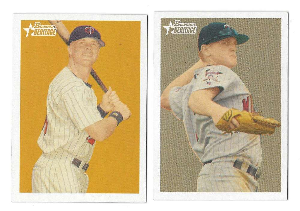 2006 Bowman Heritage Prospects - MINNESOTA TWINS Team Set