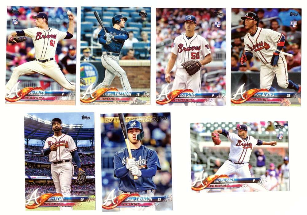 2018 Topps - ATLANTA BRAVES Team Set