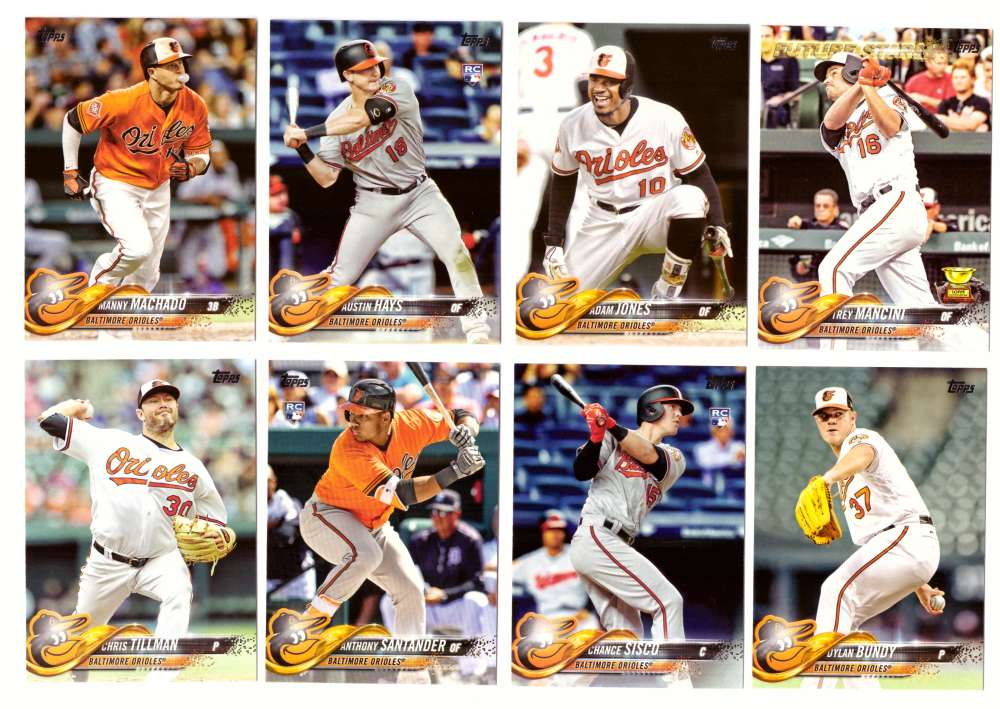 2018 Topps - BALTIMORE ORIOLES Team Set