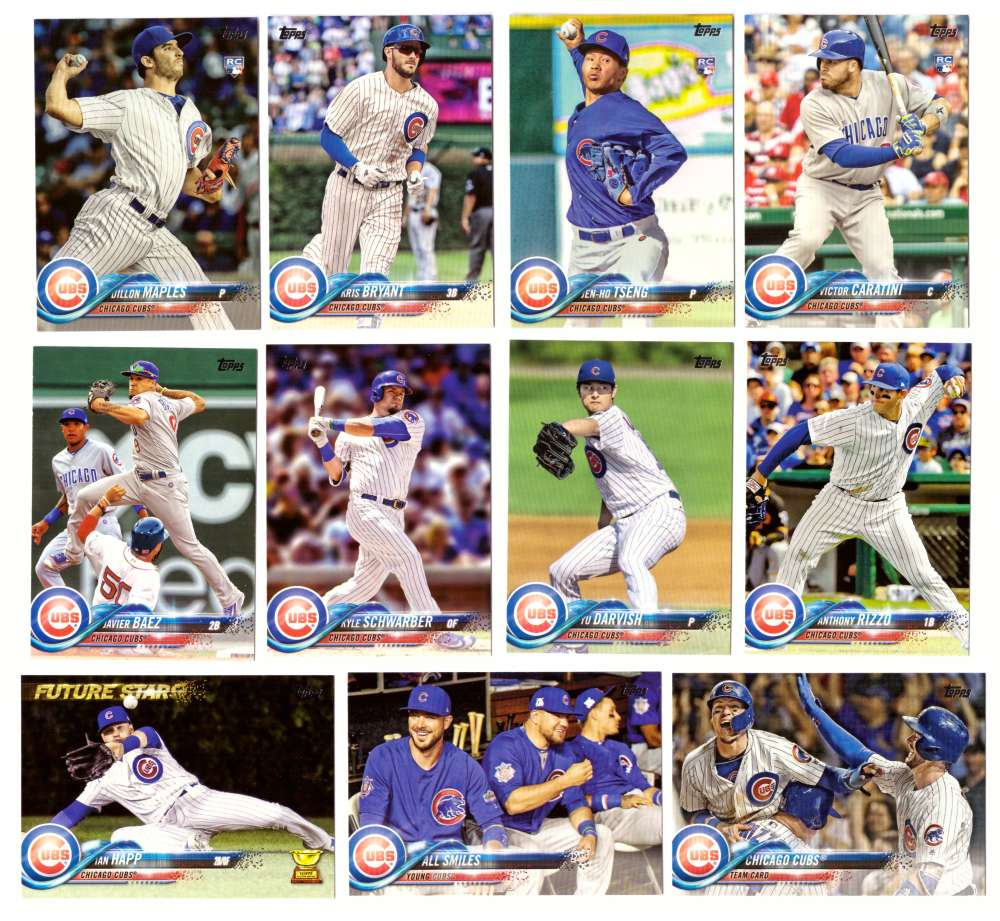 2018 Topps - CHICAGO CUBS Team Set