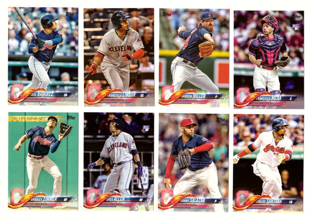 2018 Topps - CLEVELAND INDIANS Team Set