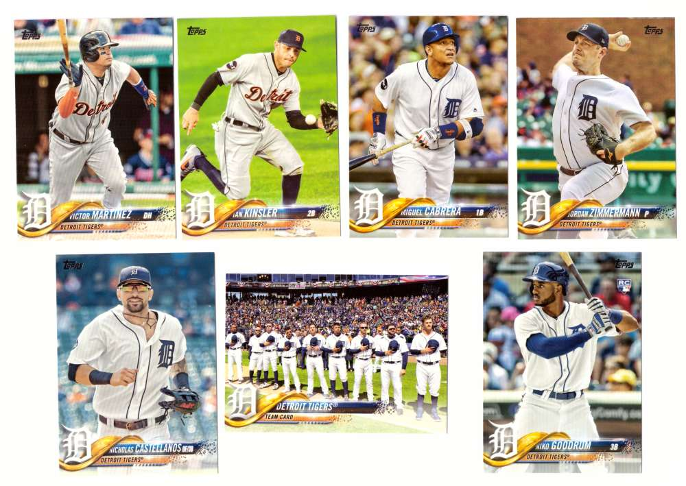 2018 Topps - DETROIT TIGERS Team Set
