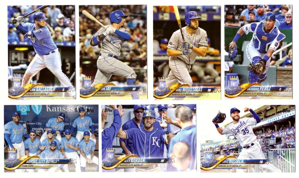 2018 Topps - KANSAS CITY ROYALS Team Set