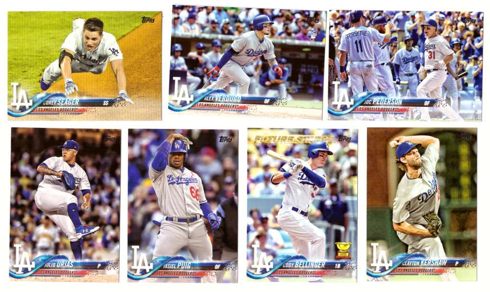 2018 Topps - LOS ANGELES DODGERS Team Set