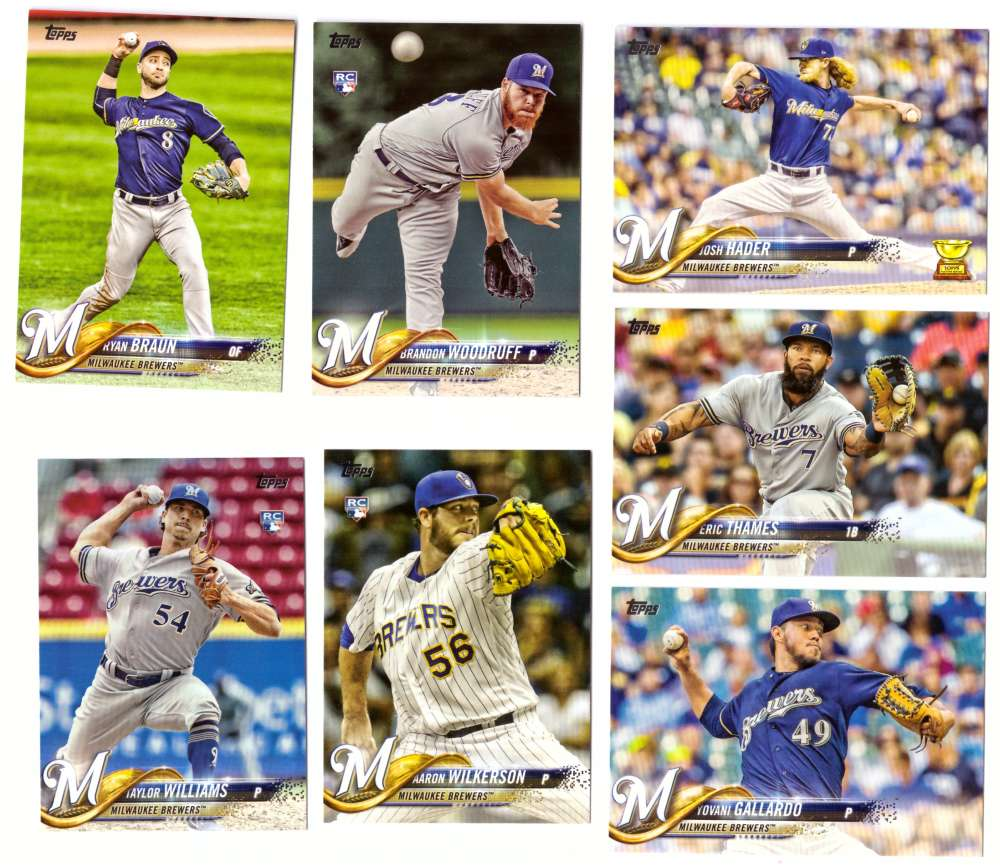 2018 Topps - MILWAUKEE BREWERS Team Set
