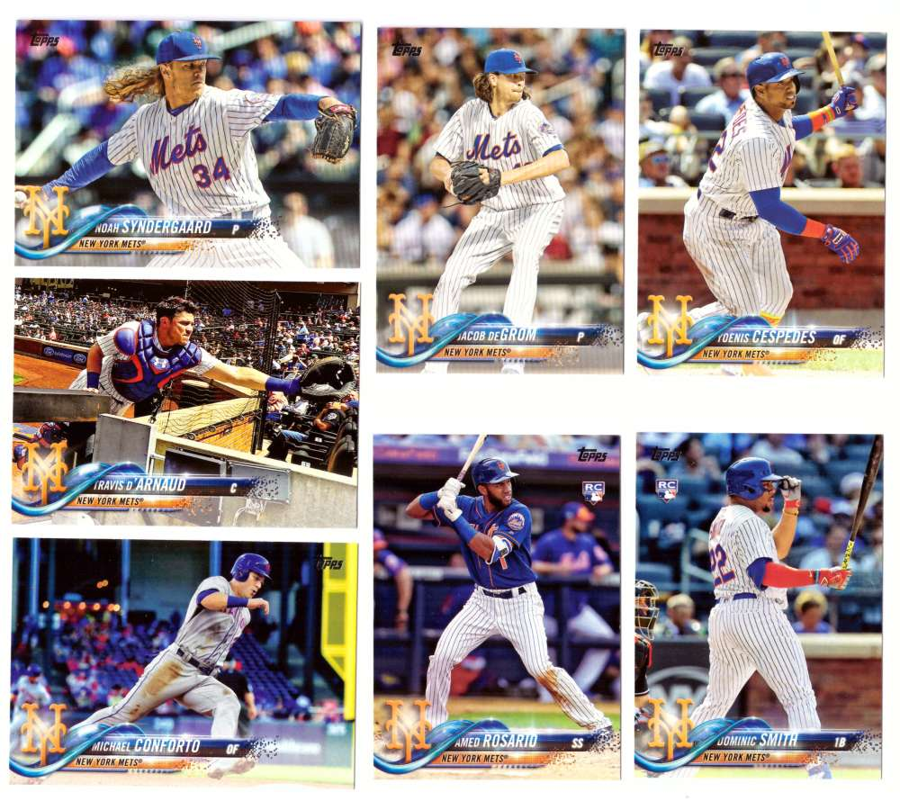 2018 Topps - NEW YORK METS Team Set
