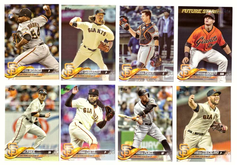2018 Topps - SAN FRANCISCO GIANTS Team Set