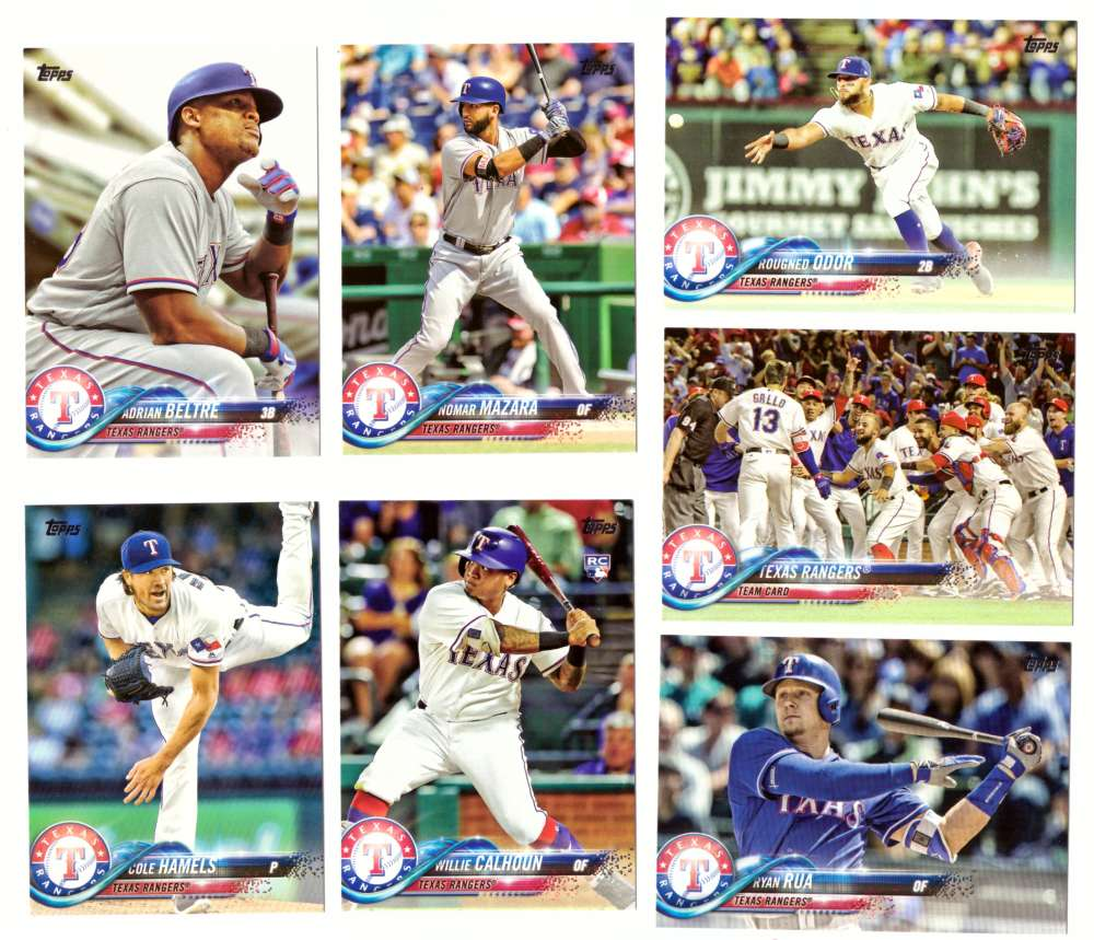 2018 Topps - TEXAS RANGERS Team set