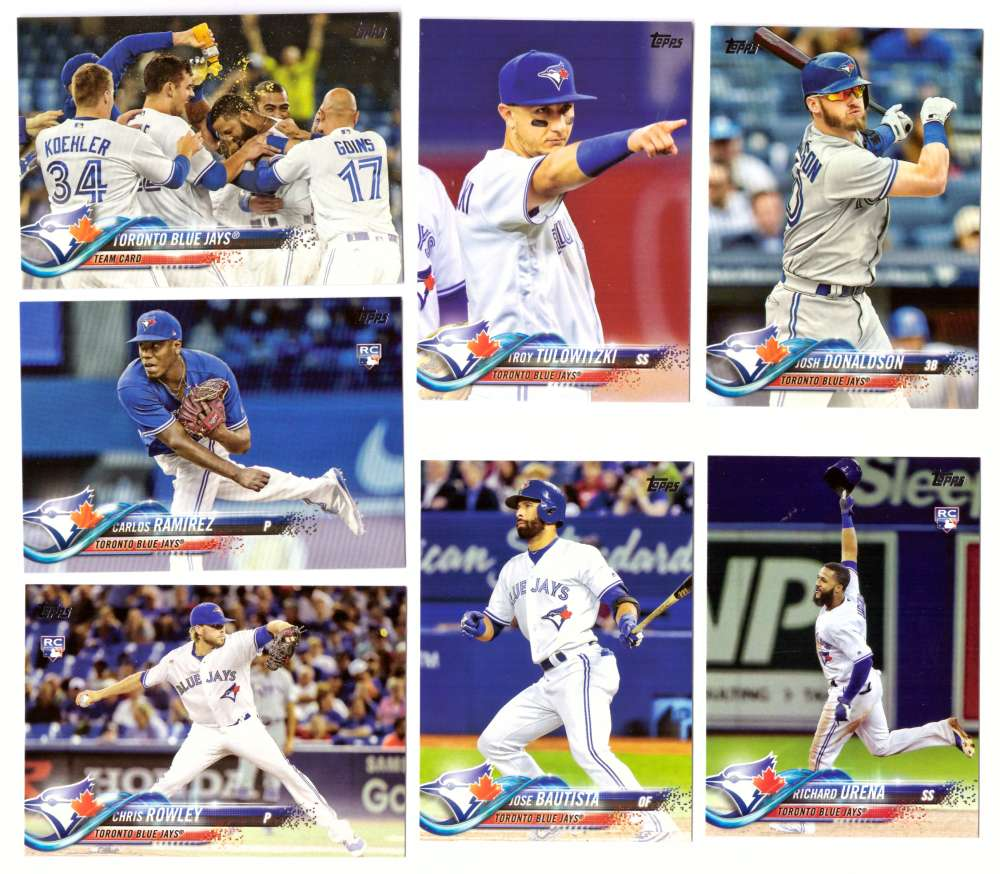 2018 Topps - TORONTO BLUE JAYS Team Set