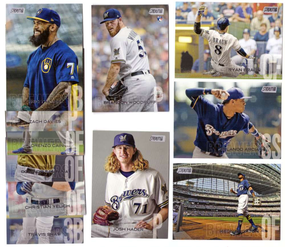 2018 Stadium Club - MILWAUKEE BREWERS Team Set