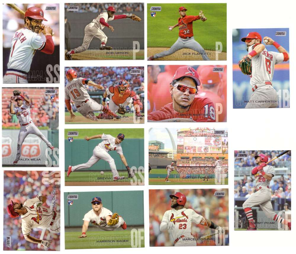 2018 Stadium Club - ST LOUIS CARDINALS Team Set