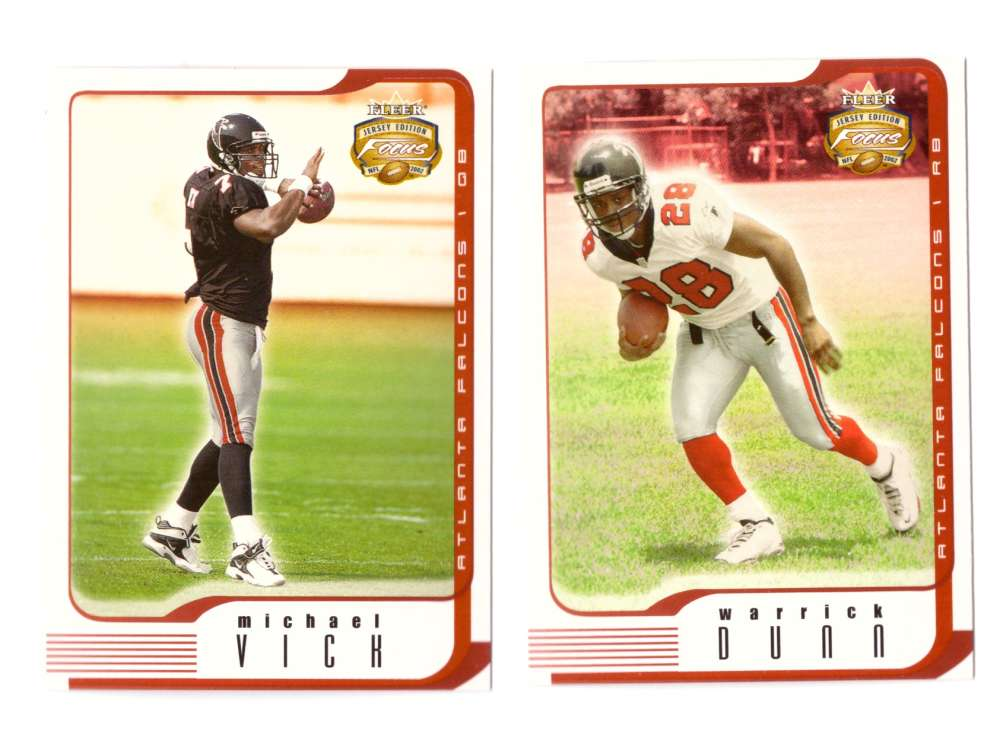 2002 Fleer Focus Jersey Edition JE Football (1-100) - ATLANTA FALCONS