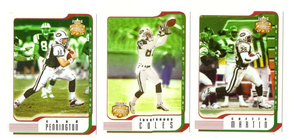 2002 Fleer Focus Jersey Edition JE Football (1-100) - NEW YORK JETS