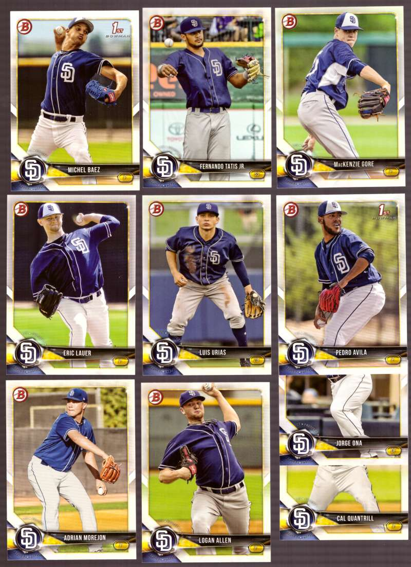 2018 Bowman Prospects - SAN DIEGO PADRES