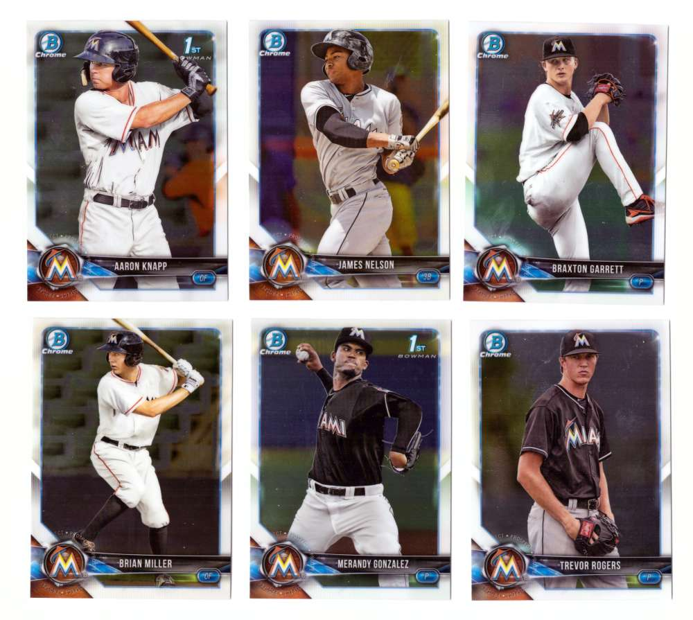 2018 Bowman Chrome Prospects - MIAMI MARLINS