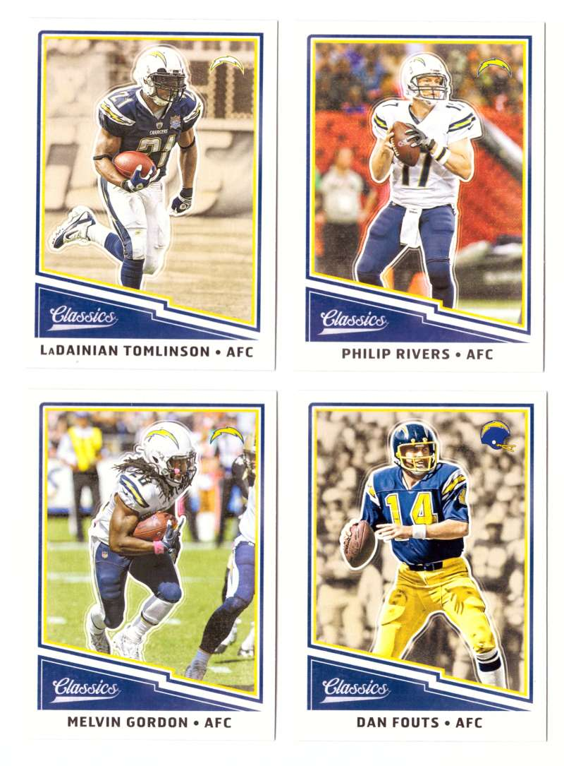 2017 Classics Base (1-200) Football Team Set - LOS ANGELES CHARGERS