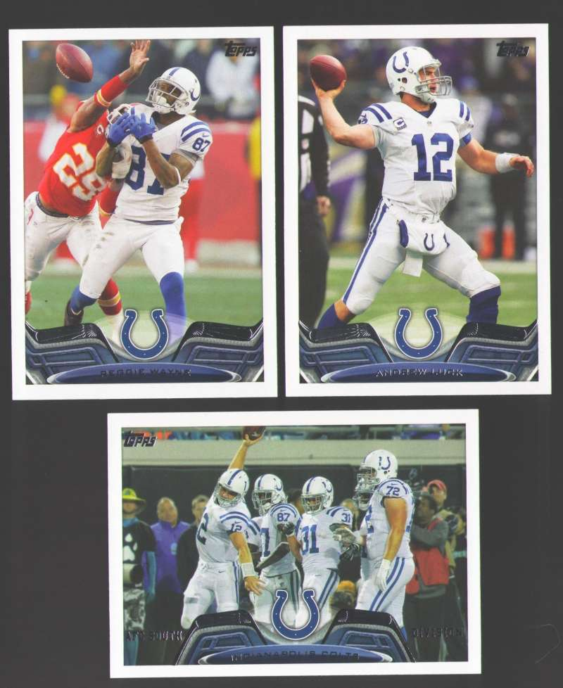 2013 Topps Mini Football Team Set - INDIANAPOLIS COLTS