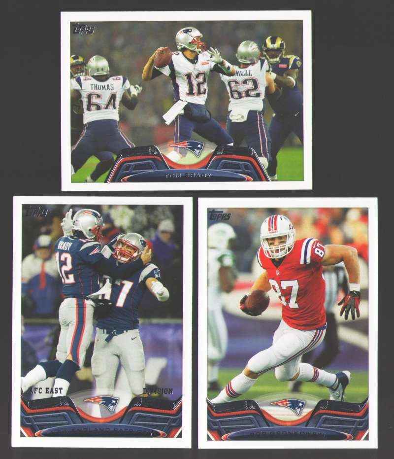 2013 Topps Mini Football Team Set - NEW ENGLAND PATRIOTS