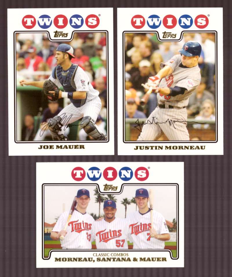 2008 Topps Gold Foil - MINNESOTA TWINS Team Set