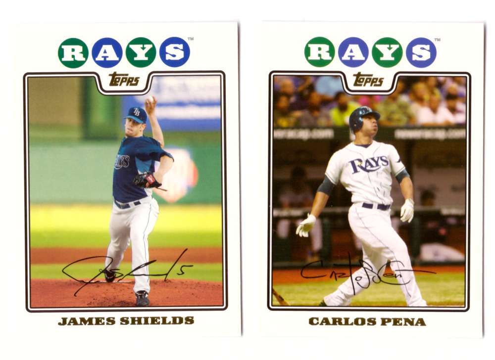 2008 Topps Gold Foil - TAMPA BAY RAYS Team Set