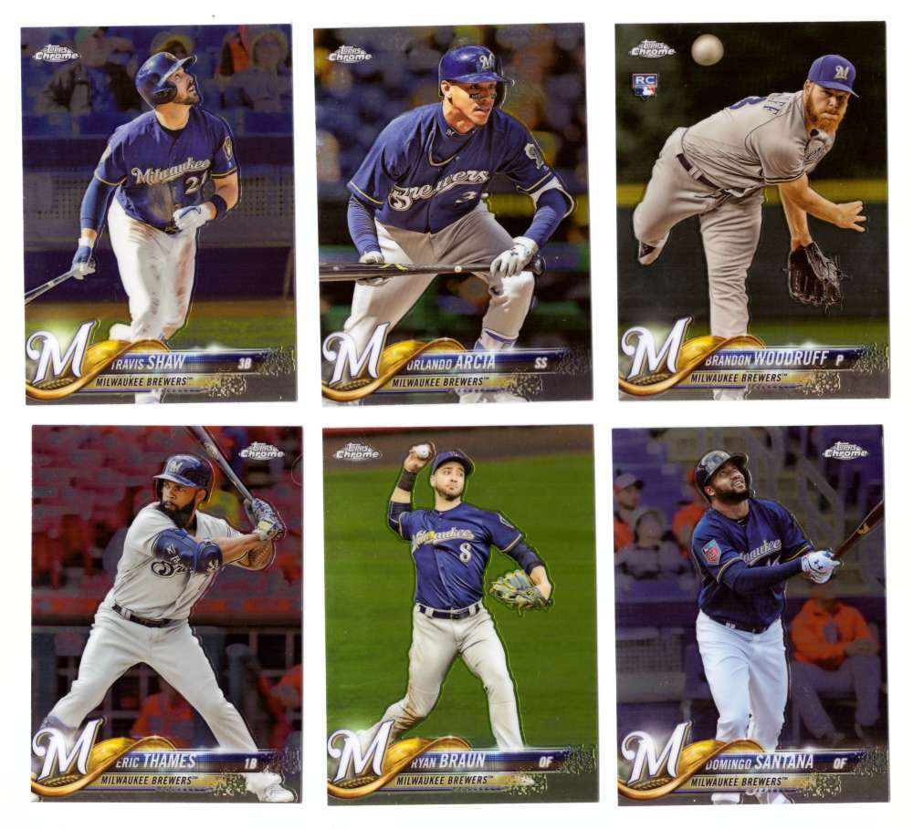 2018 Topps Chrome - MILWAUKEE BREWERS Team Set