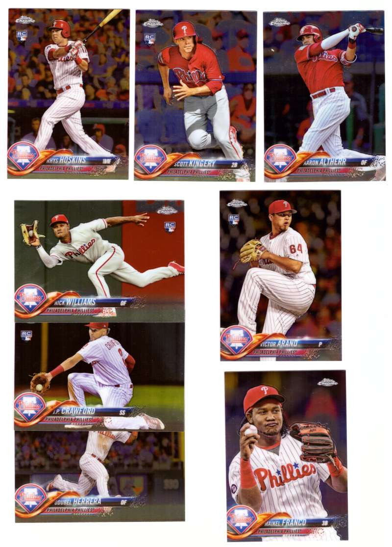 2018 Topps Chrome - PHILADELPHIA PHILLIES Team Set