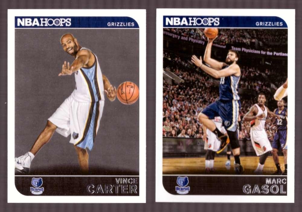 2014-15 NBA Hoops - Memphis Grizzlies 10 Card Team Set