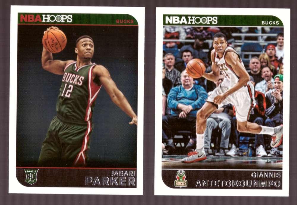 2014-15 NBA Hoops - Milwaukee Bucks 11 Card Team Set