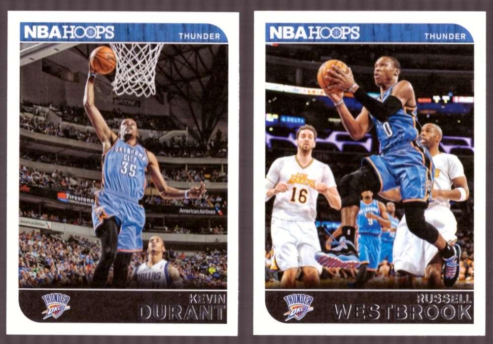 2014-15 NBA Hoops - Oklahoma City Thunder 8 Card Team Set