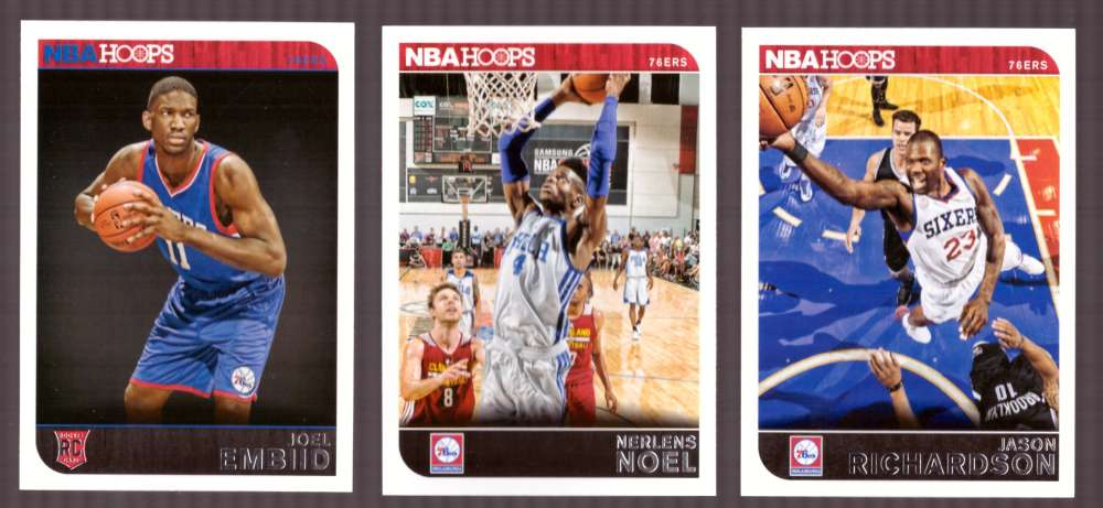 2014-15 NBA Hoops - Philadelphia 76ers 11 Card Team Set