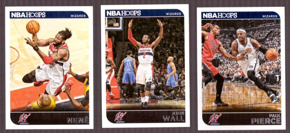 2014-15 NBA Hoops - Washington Wizards 9 Card Team Set