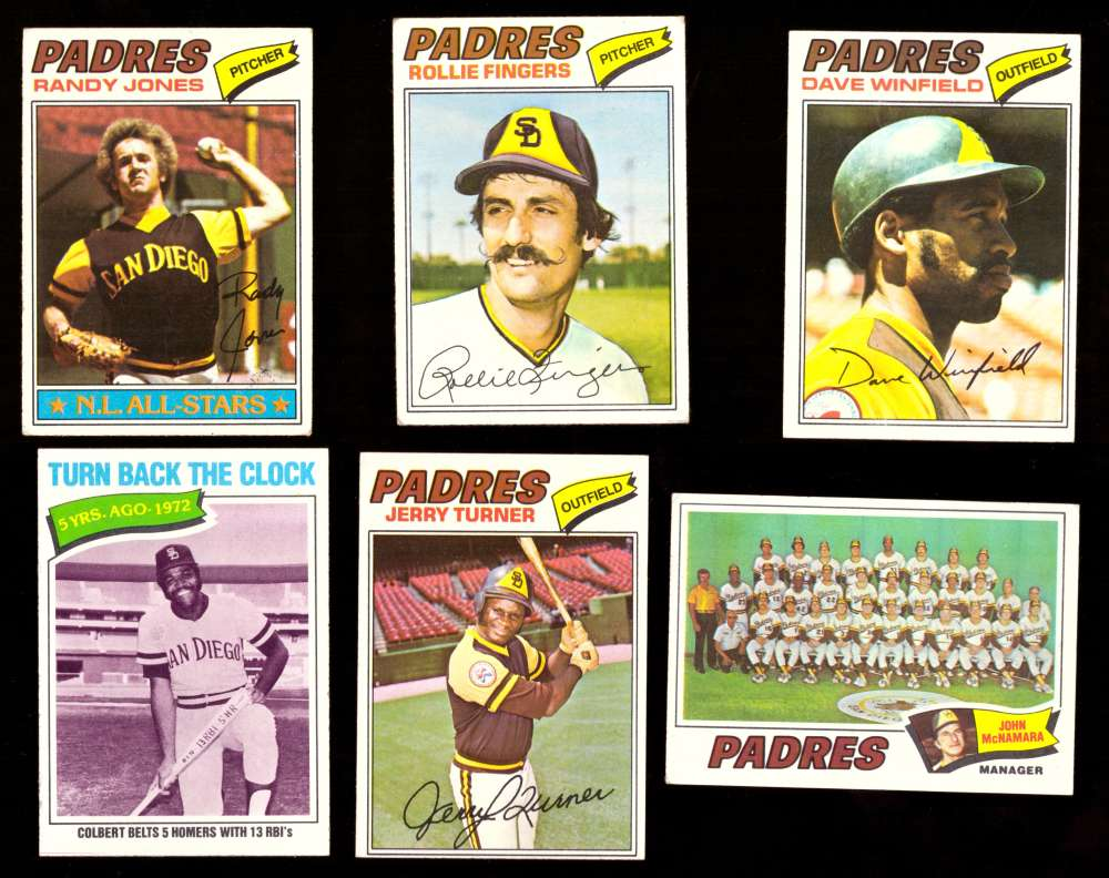 1977 Topps (D) - SAN DIEGO PADRES Team Set