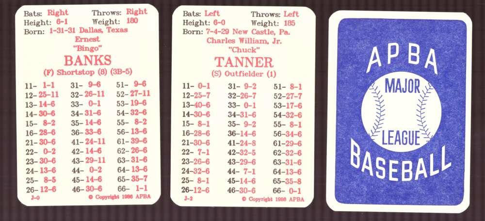1957 APBA (Reprint) Season - CHICAGO CUBS Team Set