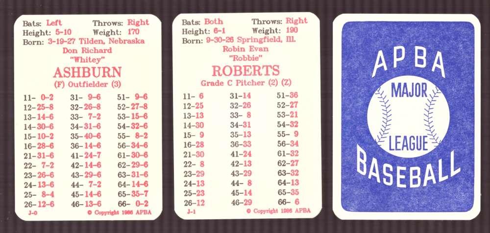 1957 APBA (Reprint) Season - PHILADELPHIA PHILLIES Team Set