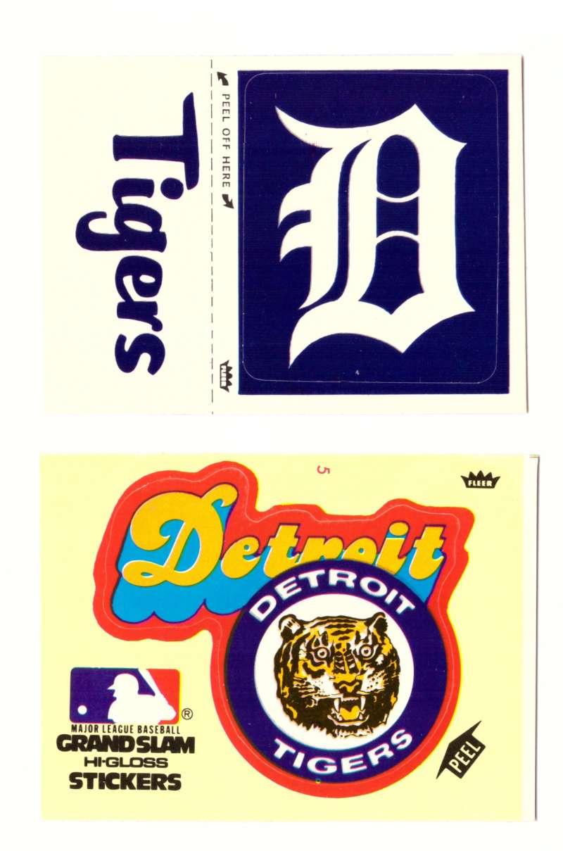 1979 Fleer Grand Slam Team and Hat Logo DETROIT TIGERS
