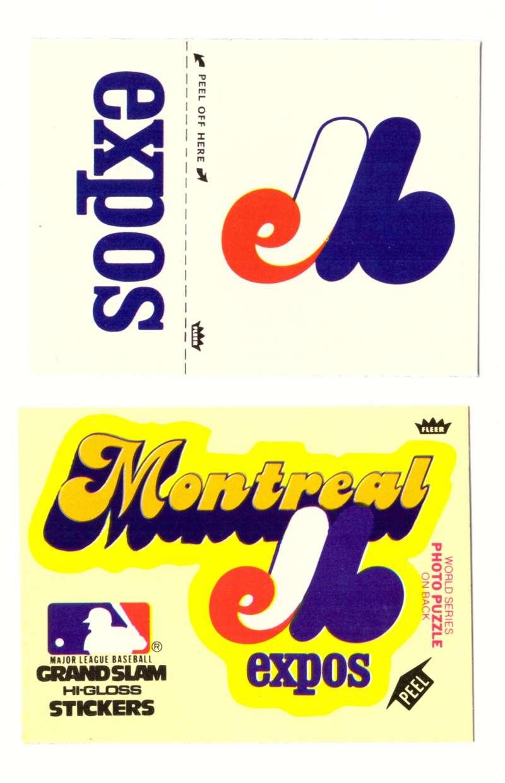 1979 Fleer Grand Slam Team and Hat Logo MONTREAL EXPOS