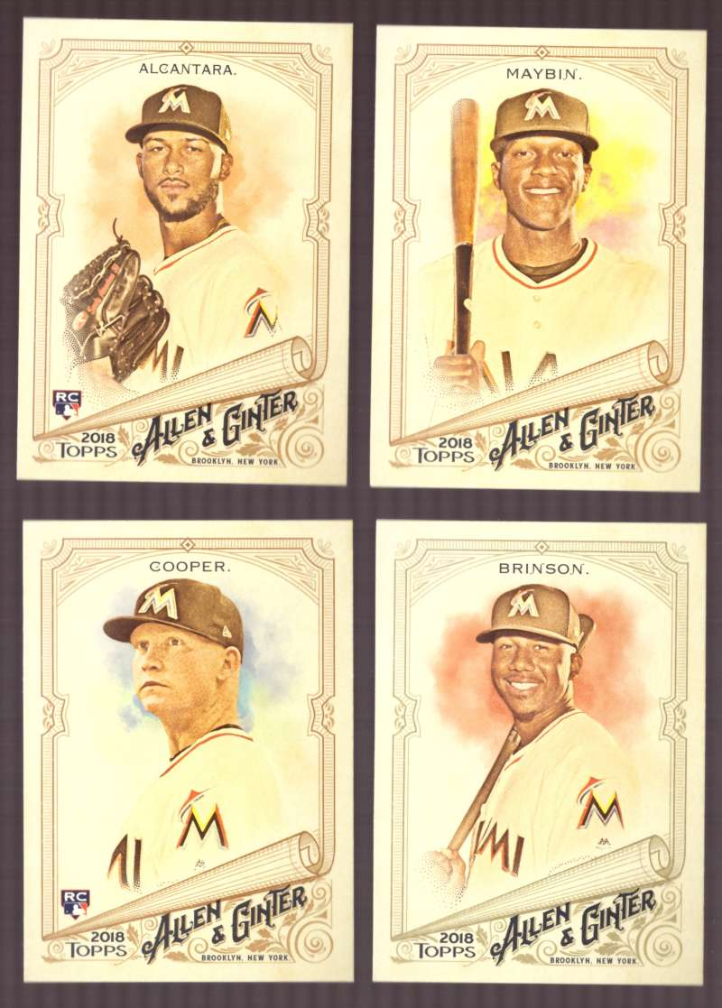 2018 Topps Allen and Ginter - MIAMI MARLINS Team Set