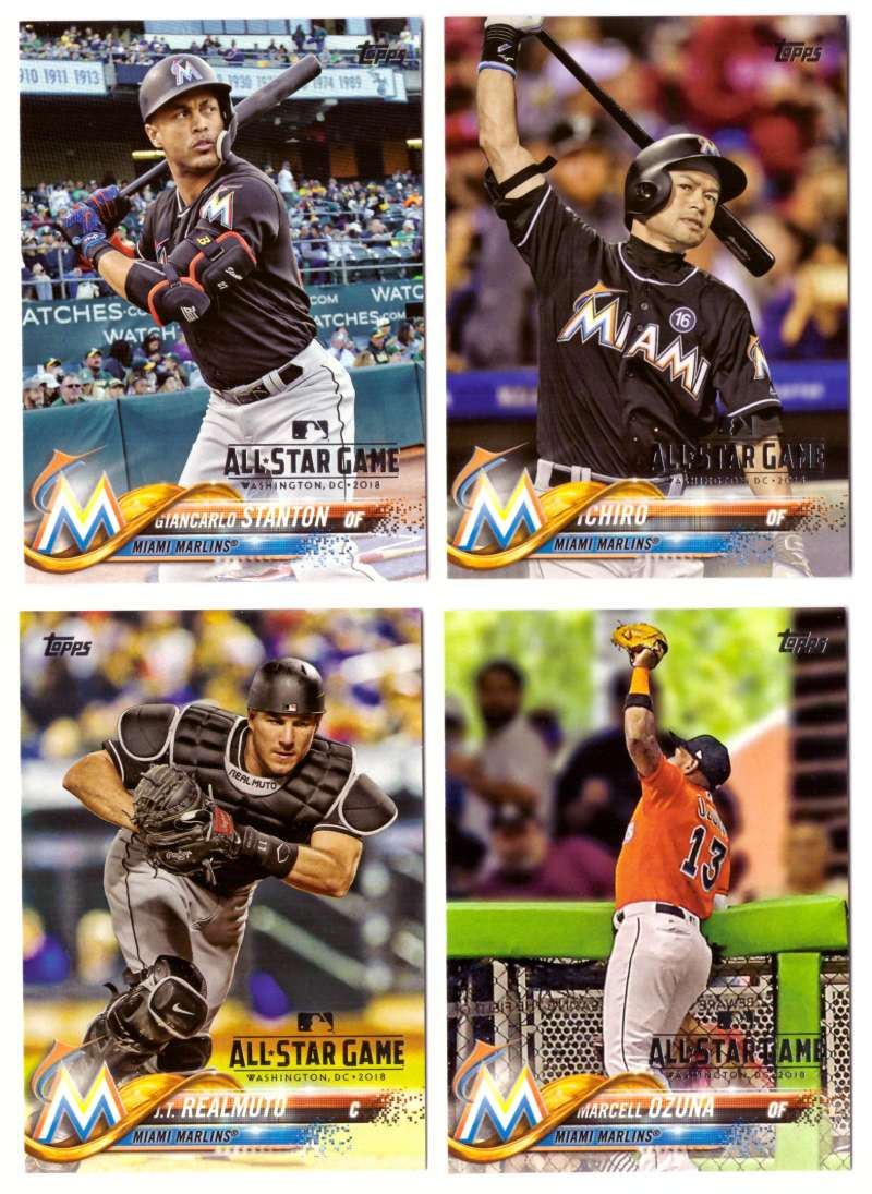 2018 Topps All-Star Game Parallel - MIAMI MARLINS Team Set
