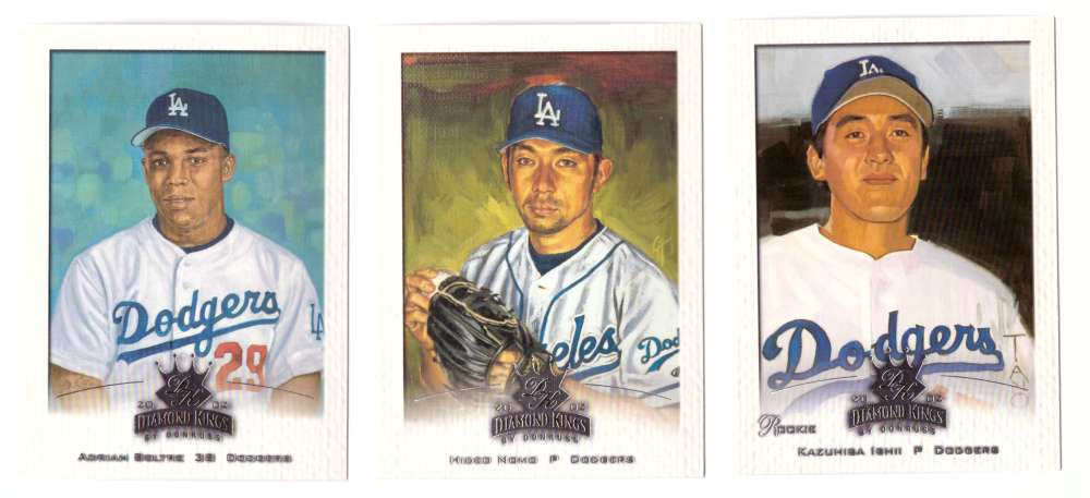 2002 Donruss Diamond Kings (1-150) - LOS ANGELES DODGERS Team Set