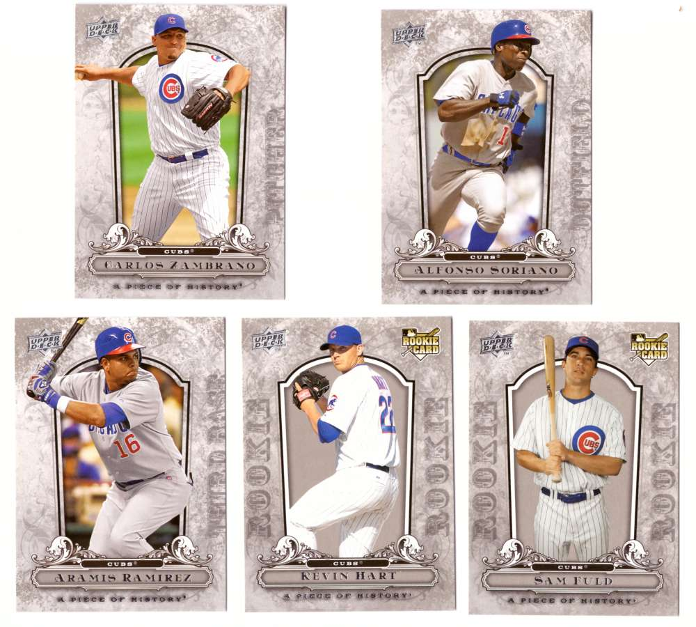 2008 Upper Deck A Piece of History - CHICAGO CUBS Team Set