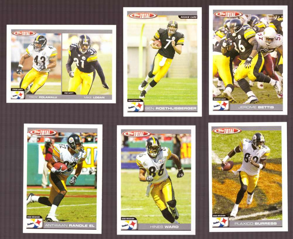 2004 Topps Total Football Team Set - PITTSBURGH STEELERS