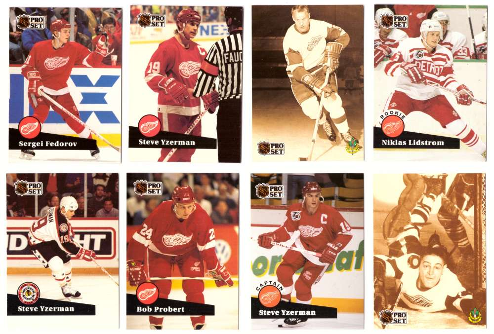 1991-92 Pro Set Hockey Team Set - Detroit Red Wings